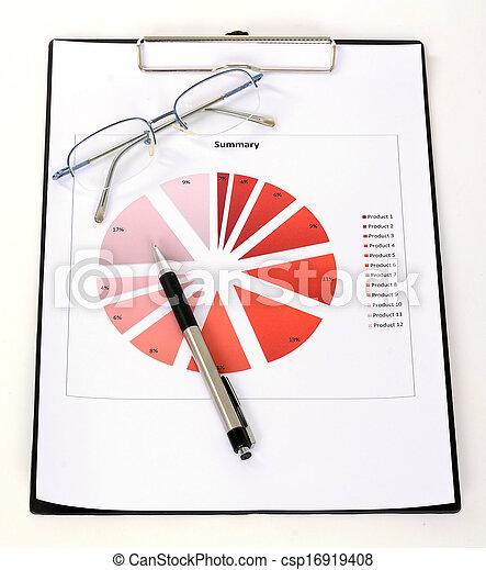 relazione, grafici, tabelle - csp16919408