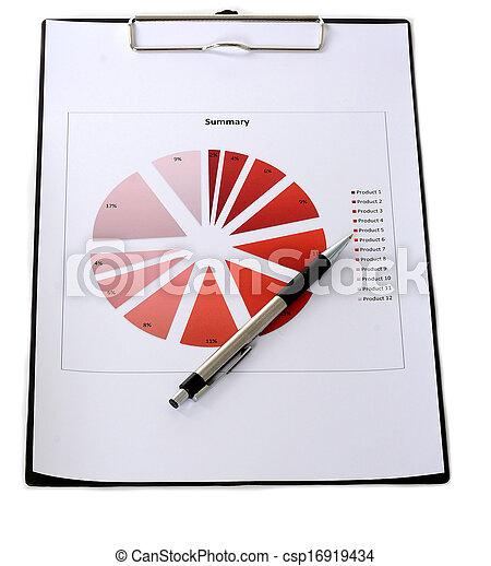 relazione, grafici, tabelle - csp16919434