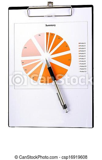 relazione, grafici, tabelle - csp16919608