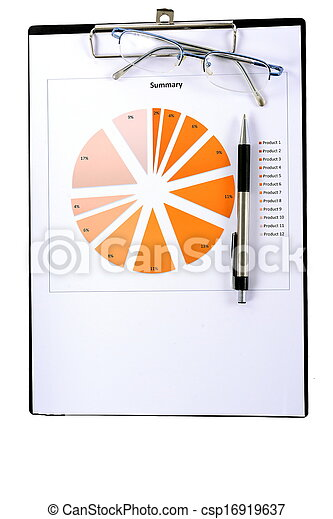 relazione, grafici, tabelle - csp16919637