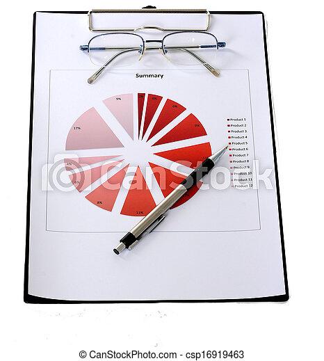 relazione, grafici, tabelle - csp16919463