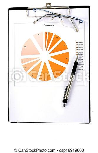 relazione, grafici, tabelle - csp16919660