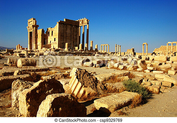 Relics of Palmyra in Syria - csp9329769