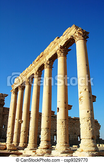 Relics of Palmyra in Syria - csp9329770