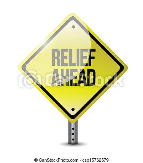 relief ahead road sign illustration design - csp15762579