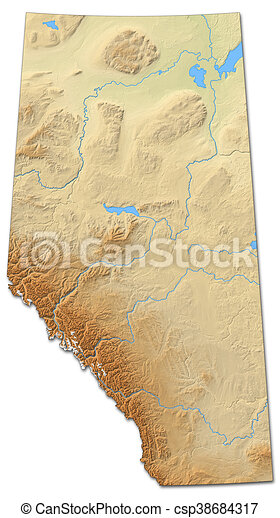 Relief map - Alberta (Canada) - 3D-Rendering on map of united states, map of montreal canada, detailed map of canada, map of northwest territories canada, map of ontario canada, map of edmonton canada, map of saskatchewan, map of newfoundland canada, large map of canada, map of hanna canada, map of ottawa canada, map of sweden, map of manitoba canada, map of us and canada, map of new brunswick canada, map of banff canada, climate map of canada, map of whitecourt canada, map of canada provinces, map of grande prairie canada,