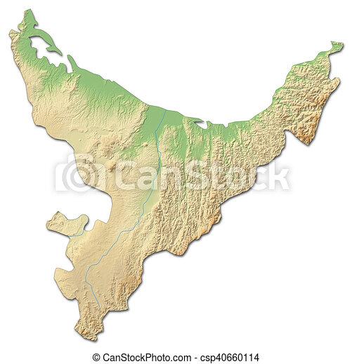 3d Map Of New Zealand.Relief Map Bay Of Plenty New Zealand 3d Rendering