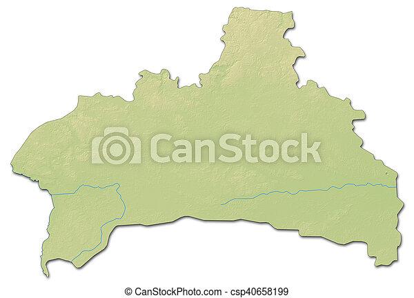 Relief map brest belarus 3drendering Relief map of stock