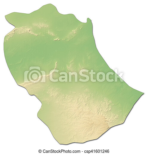 Relief map gabes tunisia 3drendering Relief map of stock