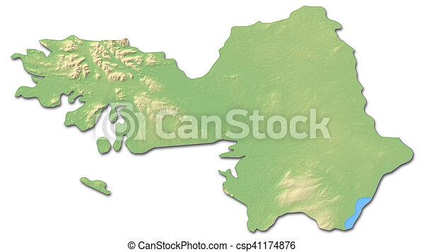 Map Of Ireland 3d.Relief Map Galway Ireland 3d Rendering