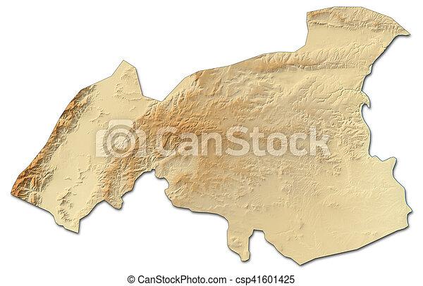 Relief map gaziantep turkey 3drendering Relief map stock