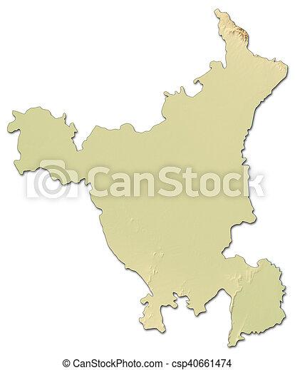 Haryana India Map.Relief Map Haryana India 3d Rendering Relief Map Of Haryana