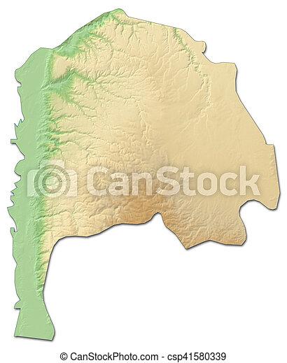 Relief map irbid jordan 3drendering Relief map of stock