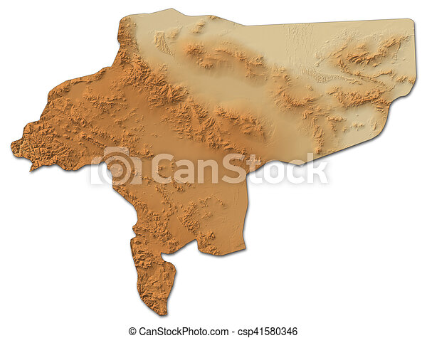 Relief map isfahan iran 3drendering Relief map of drawing