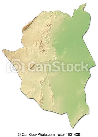 Relief map kairouan tunisia 3drendering Relief map