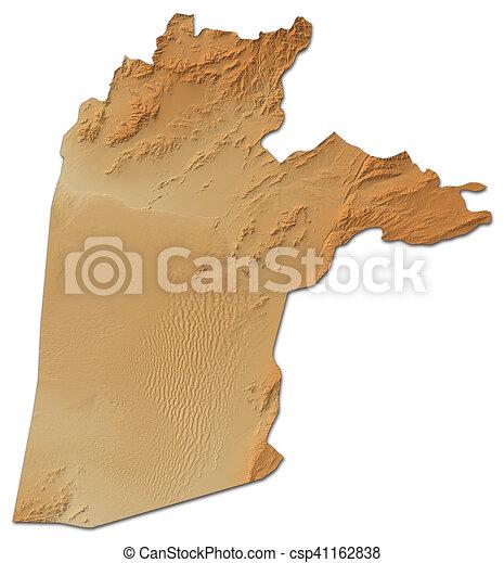 Relief map kandahar afghanistan 3drendering Relief