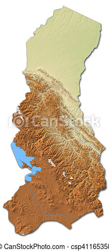Relief map la paz bolivia 3drendering Relief map of stock