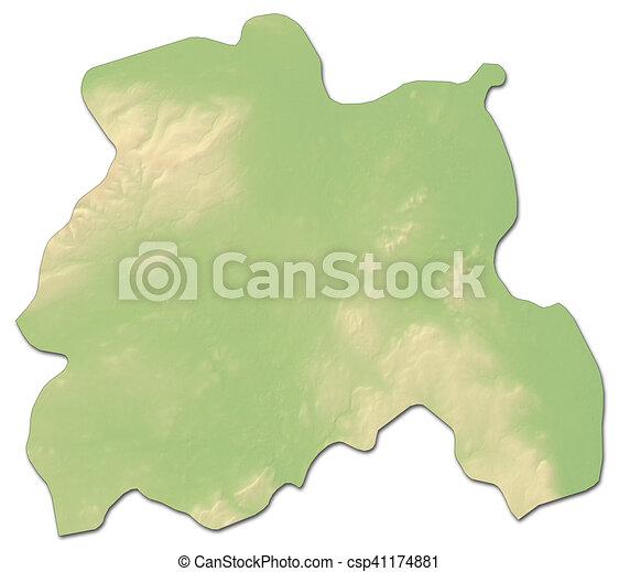 Map Of Ireland 3d.Relief Map Laois Ireland 3d Rendering
