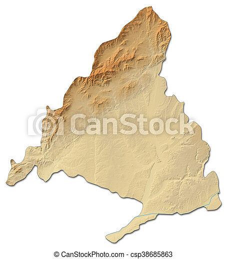 Relief map - madrid (spain) - 3d-rendering. Relief map of madrid, a ...