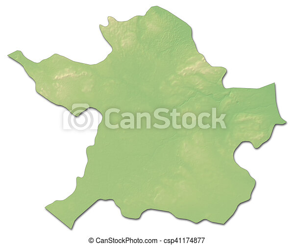 Relief Map Meath Ireland 3d Rendering Relief Map Of Meath A