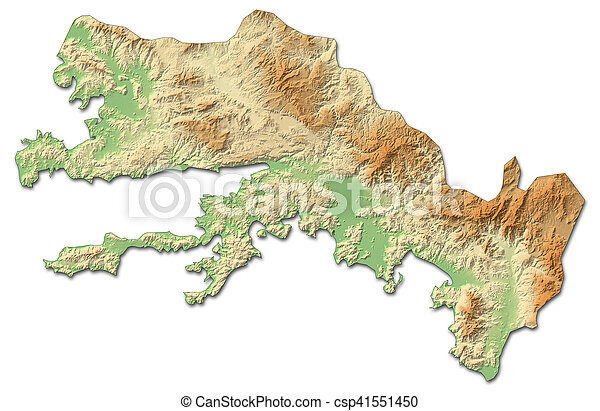 Relief map mugla turkey 3drendering Relief map of stock