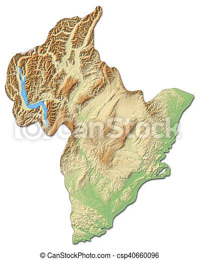 3d Map Of New Zealand.Relief Map Otago New Zealand 3d Rendering