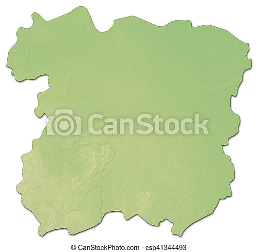 Relief map siauliai lithuania 3drendering Relief map