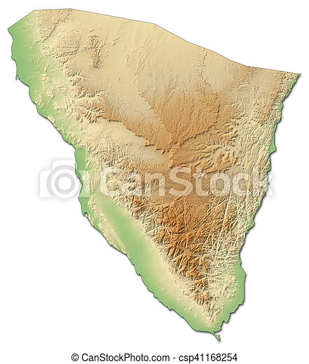 Relief Map South Sinai Egypt 3d Rendering Relief Map Of South