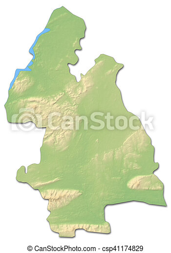 Map Of Ireland 3d.Relief Map Tipperary Ireland 3d Rendering
