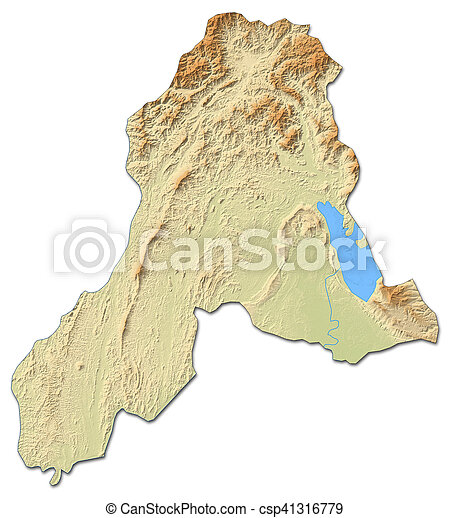 Relief map - vientiane province (laos) - 3d-rendering. Relief map of ...