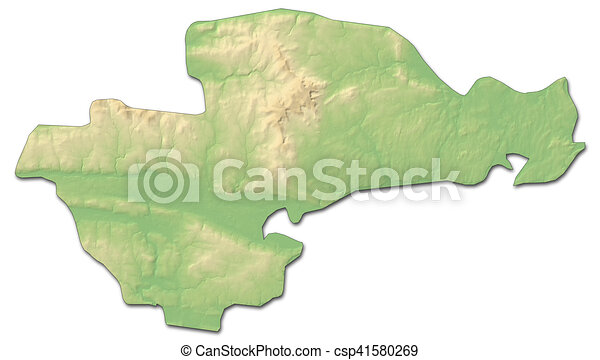 Relief Map Waterford Ireland 3d Rendering Relief Map Of