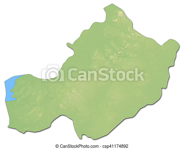 Westmeath Ireland Map.Relief Map Westmeath Ireland 3d Rendering Relief Map Of
