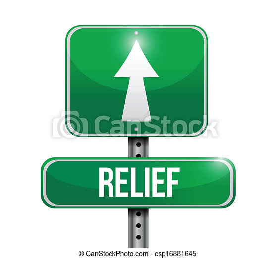 relief road sign illustration design - csp16881645