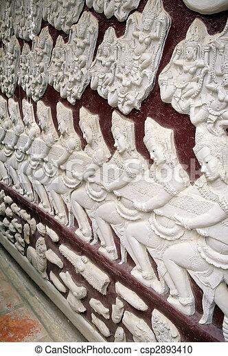 Reliefs- Phnom Penh, Cambodia - csp2893410