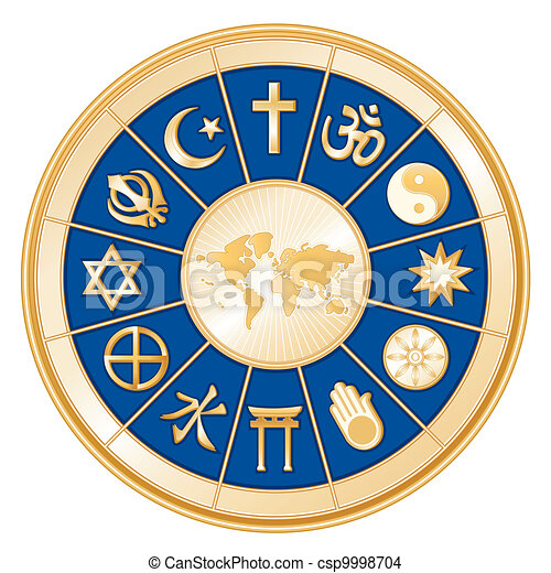 religiões, mapa, mundo - csp9998704