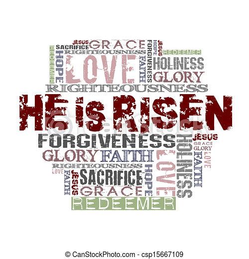 religieus, risen, achtergrond, hij - csp15667109
