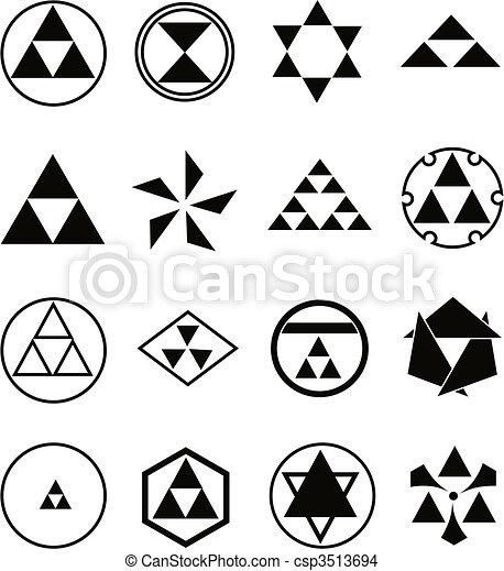 religieux, divers, symboles - csp3513694