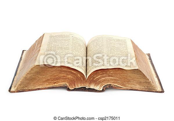 religion., άγια γραφή , γριά  - csp2175011