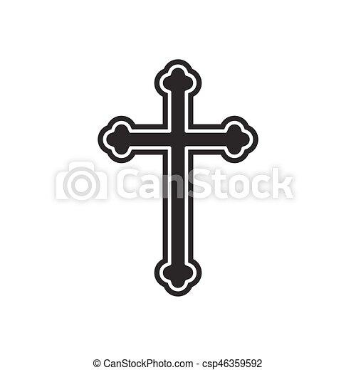 Religion cross icon - csp46359592