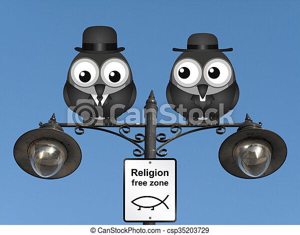Religion Free Zone - csp35203729