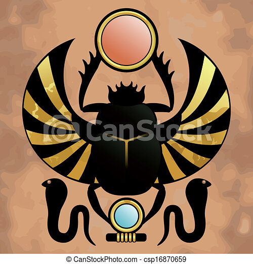 Religion Of Ancient Egypt Scarab In Ancient Egypt The Clipart