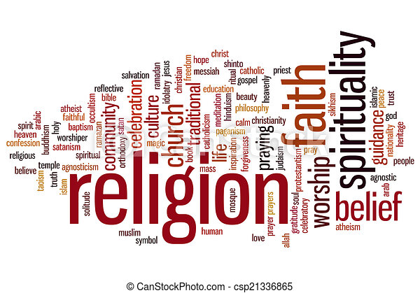 Religion word cloud - csp21336865