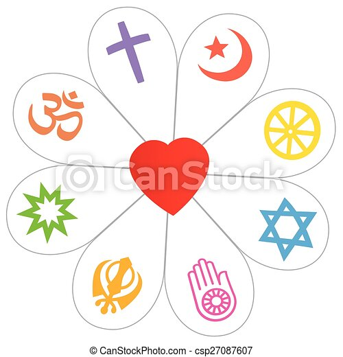 Religions Peace Flower Heart Symbol Religion Symbols That Form A