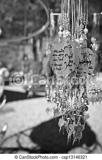 Religious bell hanging decorations - csp13146321