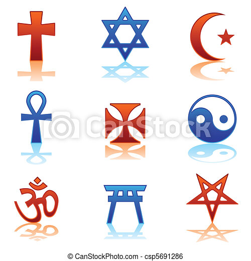 religious icons ten religious symbols in two different clip art rh canstockphoto com clip art constitution clipart icons for powerpoint