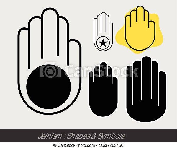 Religious Jainism Symbol Vector Illustration