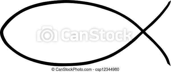 illustration of a religious jesus fish on a white vector search rh canstockphoto com