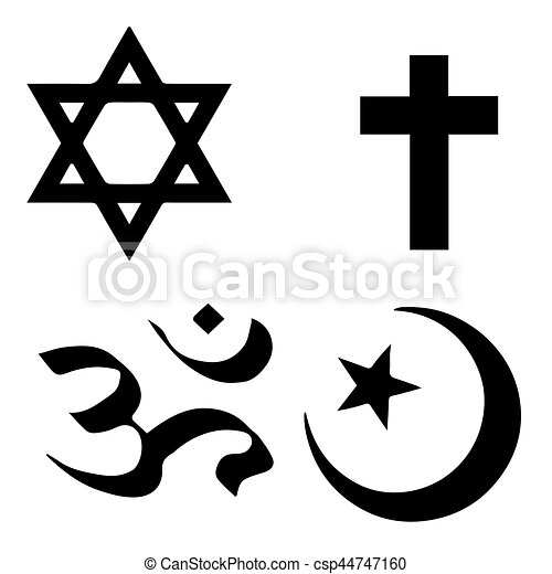 Religious Symbols From The Top Organised Faiths Of The World
