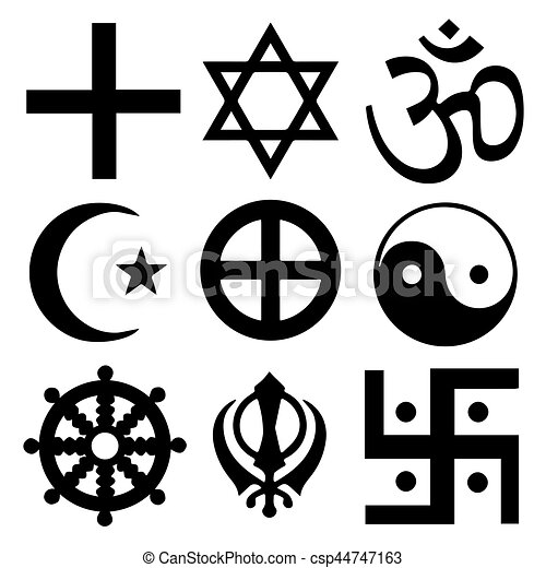 Religious Symbols From The Top Organised Faiths Of The World Clip