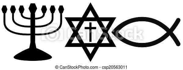 religious symbols - csp20563011